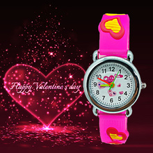 Low price children watches lovely 4 colors dial kids watch b