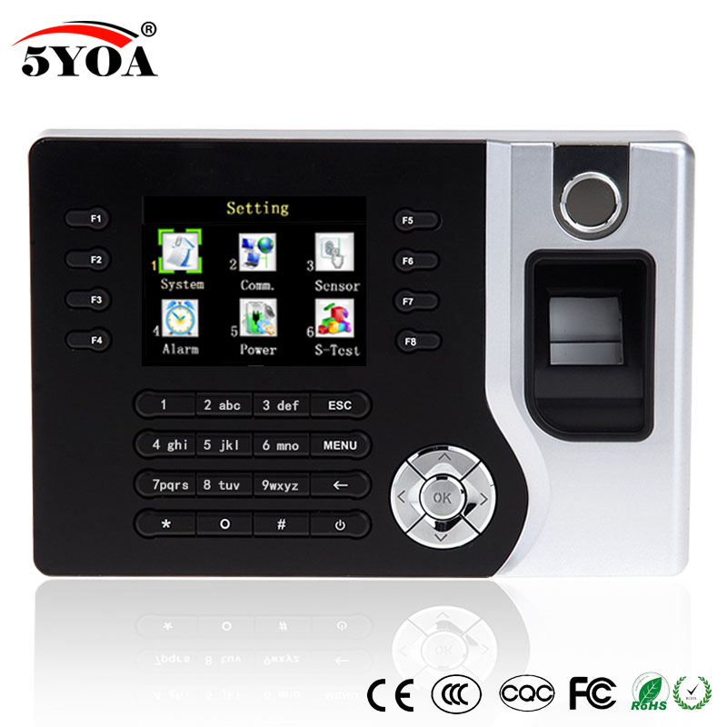 A C071 TCP IP Biometric Fingerprint Time Clock Recorder Attendance Employee Electronic Punch Reader Machine Realand