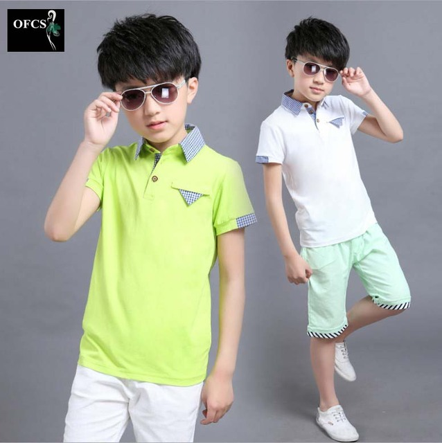 HOT Boys Clothing Set Summer Boys T Shirt And Shorts Suit Children Kids Short Sleeve Clothing Set 2016 New Arrival 3-16Year