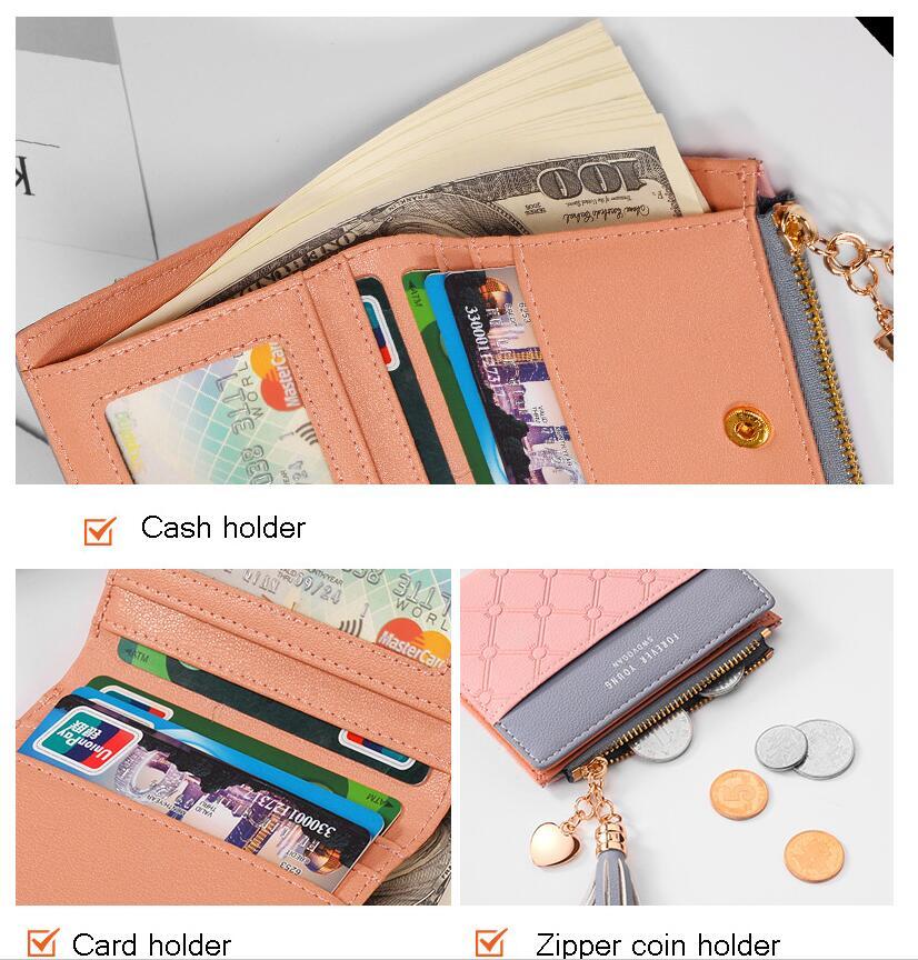небольшой бумажник женщин; портмоне для женщин; Основной материал:: ПУ;