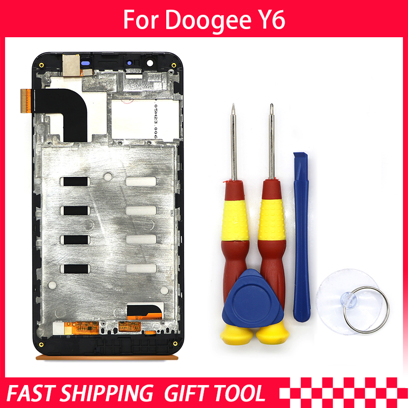 Touch Screen LCD Screen LCD Display For Doogee Y6 Digitizer Assembly With Frame Replacement PartsTouch Screen LCD Screen LCD Display For Doogee Y6 Digitizer Assembly With Frame Replacement Parts