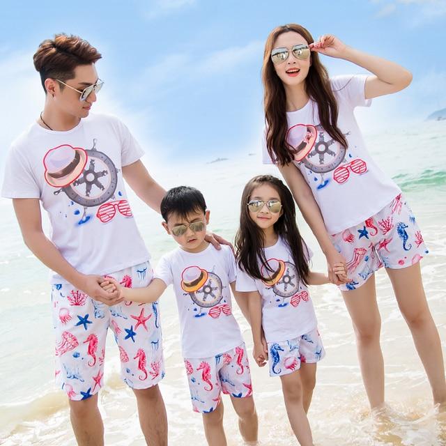 Семьи соответствующие наряды свободного покроя семья одежда / мать и дочь одежда отца и сына одежды семья одежда CY46