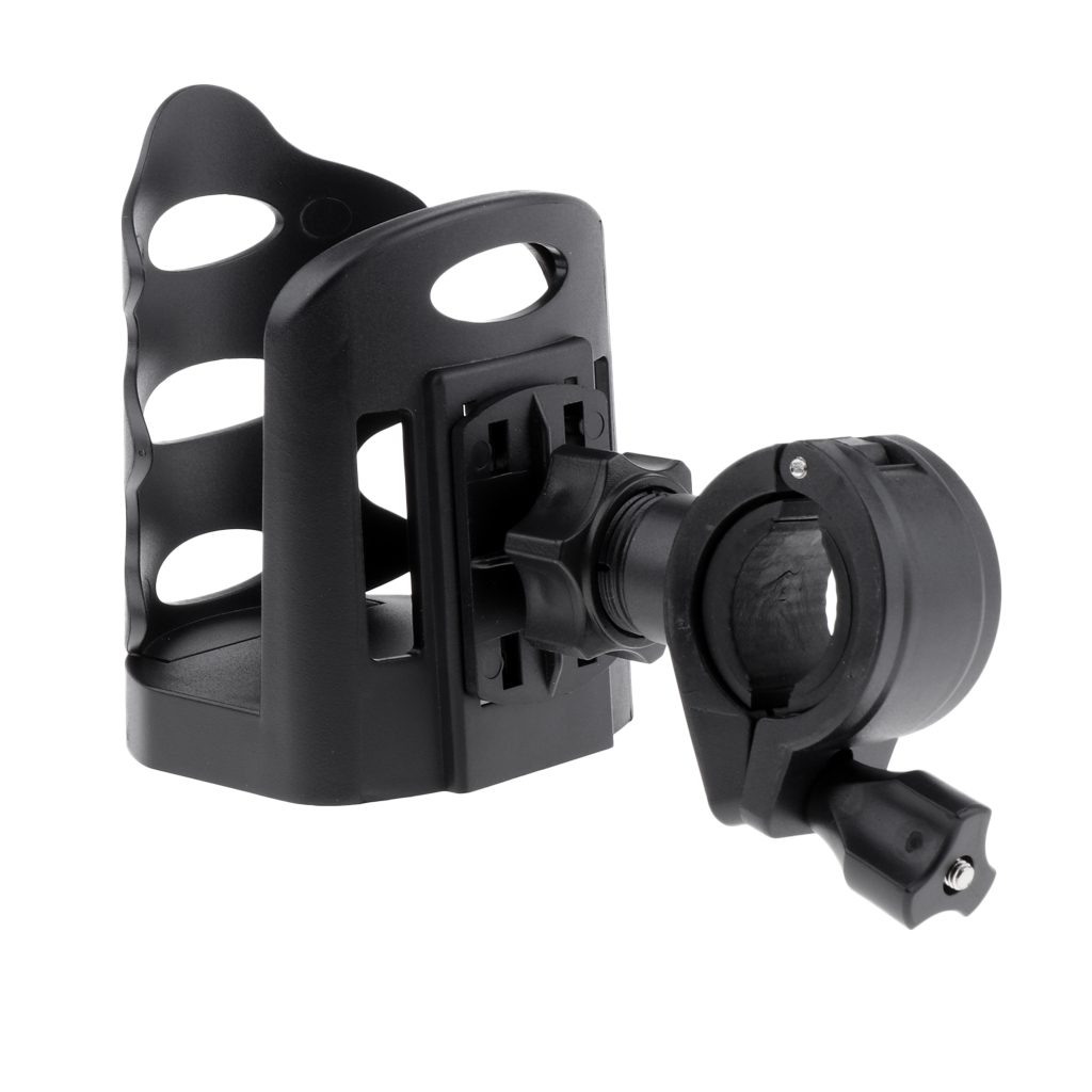 Indoor Auto Cycling Exercise Bike Water Bottle Holder Mount, Drink Cup Bottle Cage Bracket Stand for Stationary Gym Handlebar