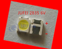 4000PCS Konka Changhong Amoi LCD TV backlight Jufei 3528 SMD LED 2835 6V Cool white 96LM For TV LCD Backlight(China)
