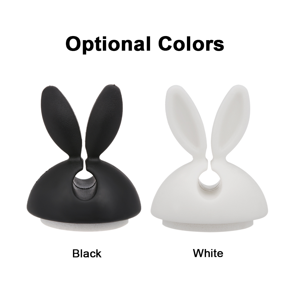 6pcs Desktop Cable Holder Phone Cable Organizer Winder Earphone Clip Charging Cable Holder Wire Fixer Silicone Holder rabbit