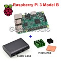 Raspberry Pi 3 Model B 1.2GHz 1GB RAM WiFi & Bluetooth + Aluminum & Copper Heatsinks + ABS Black Case