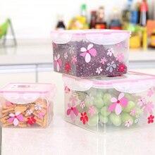 1 satz 3 stücke Lebensmittel obst Container box sushi-boxen snack tragbare dichtung erhaltung gedruckt verwenden in Kühlschrank geschirrspüler sterilisator