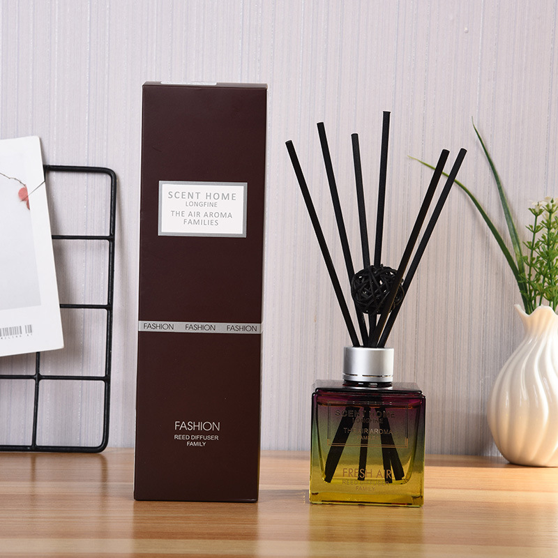 150ML Aromatic Oils Reed Diffuser Bottle With Sage Rattan Sticks 50ml Ocean Cinnamon Jasmine Scents Flavoring For Home J016-01