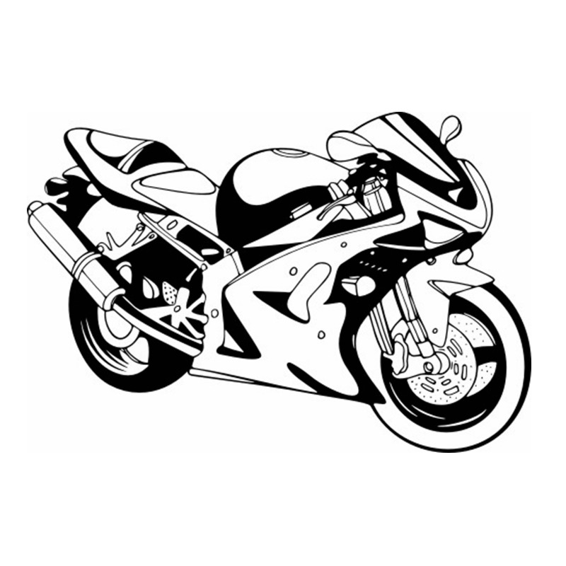 DCTAL Heavy Motorcycle Sticker Vehicle Decal Classic Punk Posters Vinyl Wall Decals Auto ...
