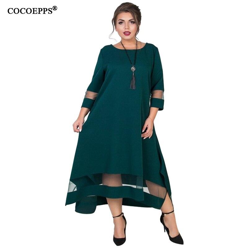 EINE Linie 5xl 6xl Plus Größe Winter Kleid Mesh Elegante Frauen Kleid Große Größe Lange Maxi Kleid Abend Party Große größe vestidos 2019