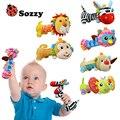 Una pieza Nueva Lovely Baby Kid Suave Modelo Animal BB Campanilla Sonajeros Mango Regalo Juguetes Para el Desarrollo