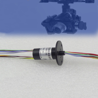 Small Signal Slip Ring 24 Channel Capsule Slip Rings 2A Out Diameter 15mm Hand Held PTZ