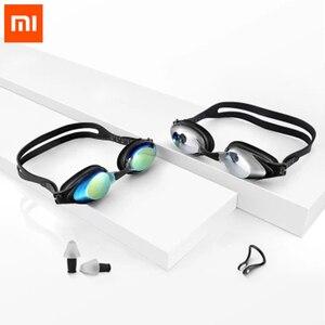Image 1 - Xiaomi Yunmai Vestito di Nuoto HD Anti fog Occhiali Clip del Naso Tappi Per Le Orecchie Anti appannamento Anti Acqua auricolare