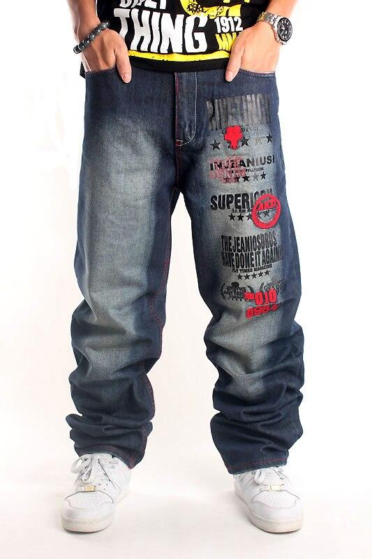 Water wash blue men's clothing loose casual hiphop hip-hop skateboard hiphop jeans plus size 6XL 5XL 4XL 3XL 2XL смартфон highscreen fest xl pro blue