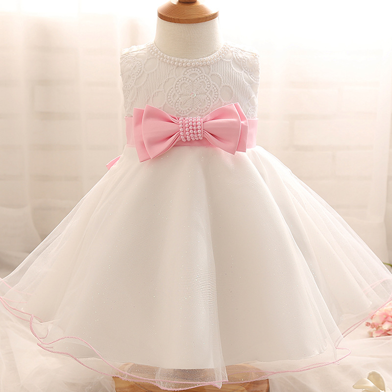 New Sleeveless Waist Chiffon Dress Baby Baptism Dress Girls Toddler Bow Tutu Layered Princess Party Bow Kids Formal Dress 207 vintage bow waist bubble dress