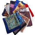 Paisley 20 Colores Cuadrados de Bolsillo Para Hombre de alta Calidad Masculina de Seda Floral Diseñador Pocket Square Pañuelo Pañuelo de Bolsillo de Negocios