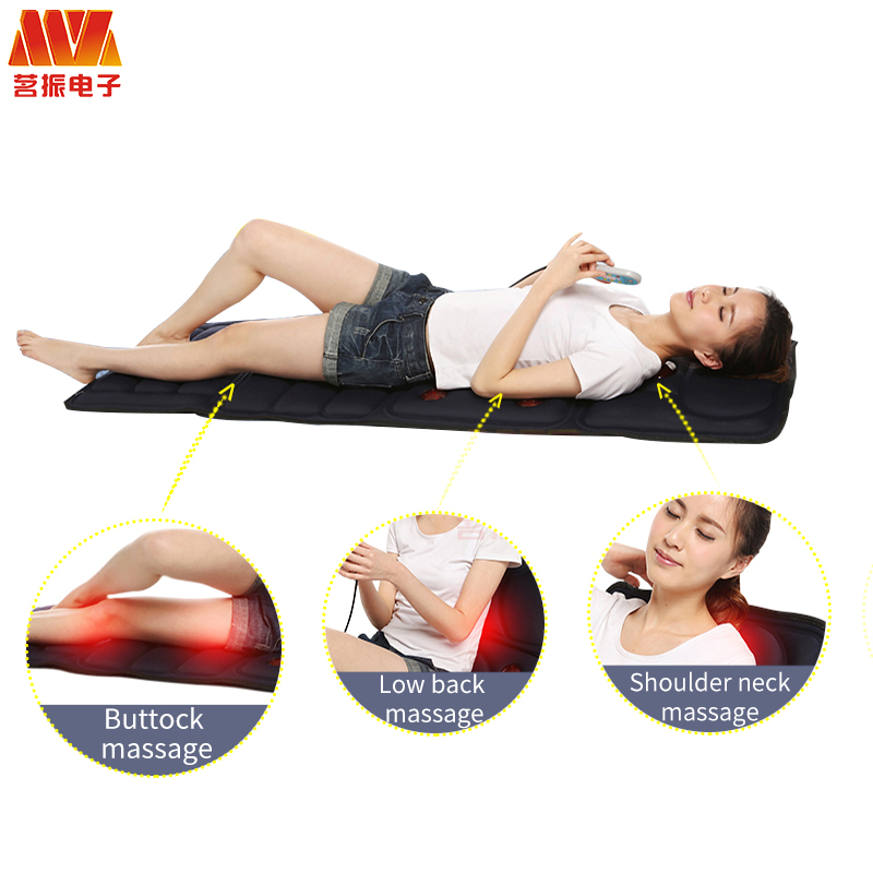 HOT Full Body Neck Lumbar Electric treatment Far Infrared Massage mat Relaxation Vibrating Mattress Heat Therapy Bed Health Care in Massage Relaxation from Beauty Health
