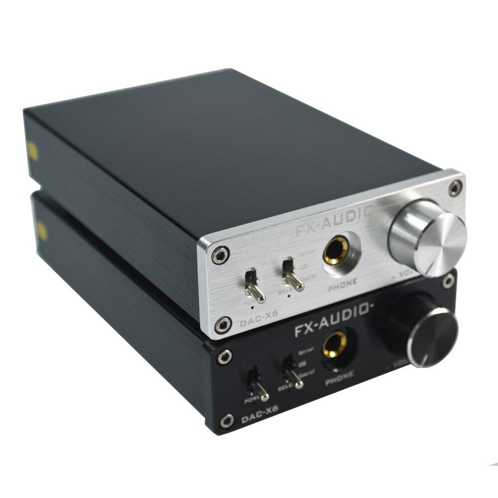 ФОТО Amplifiers Fx-Audio Feixiang DAC-X6 Fever HiFi Amp USB Fiber Coaxial Digital Audio Decoder DAC 24BIT/192 12V Home Amp Silver