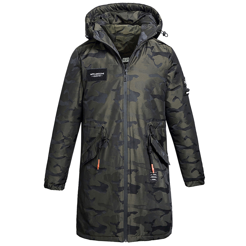 Winter Camouflage Hooded Cotton Standard Yes None Loose Zipper Fashion Solid Down Hot New Uomo Men Coat Overcoat Male Jacket A50 jcpal 2017 tigernu men s backpacks anti thief mochila for laptop 14 15inch notebook computer bags men backpack school rucksack