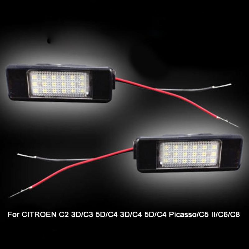 Penggantian auto belakang plat nomor cahaya Untuk Citroen C2 3D / C3 - Lampu mobil - Foto 5