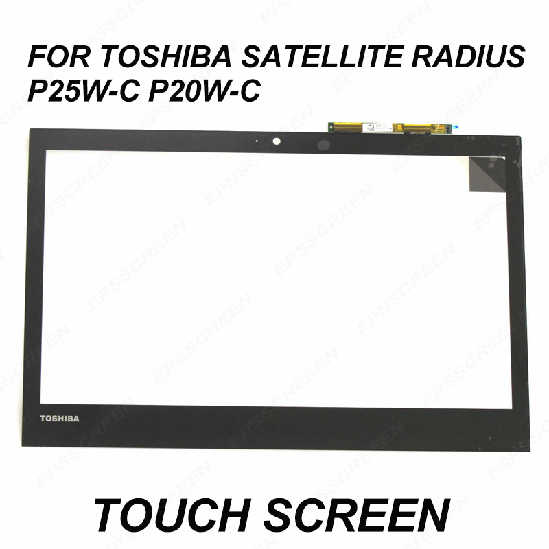 Remplacer 12.5 pour Toshiba Satellite rayon 12 P25W-C P20W-C écran tactile panneau verre numériseur avant capteur lentille d'affichage
