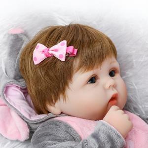 Image 4 - Bonecas de silicone cmlifelike de 18 polegadas, bebês, renascidas, bebê, menino, bonecas, brinquedos vivos reais para meninas, bebê, presente bonecas renascer