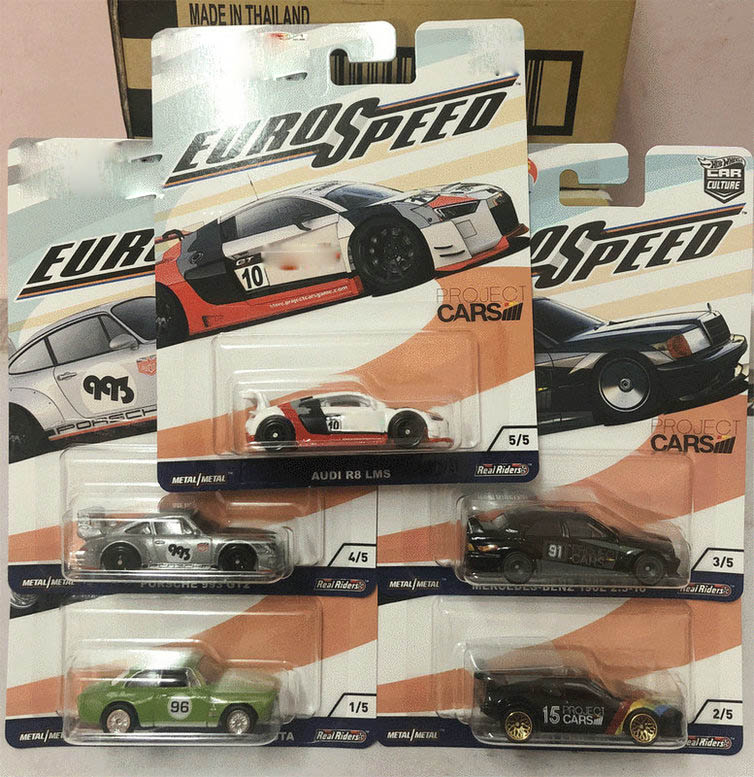 Hot Wheels Car 1:64 Car Culture Euro Speed Collector Edition Metal Diecast Model Car Kids Toys Gift