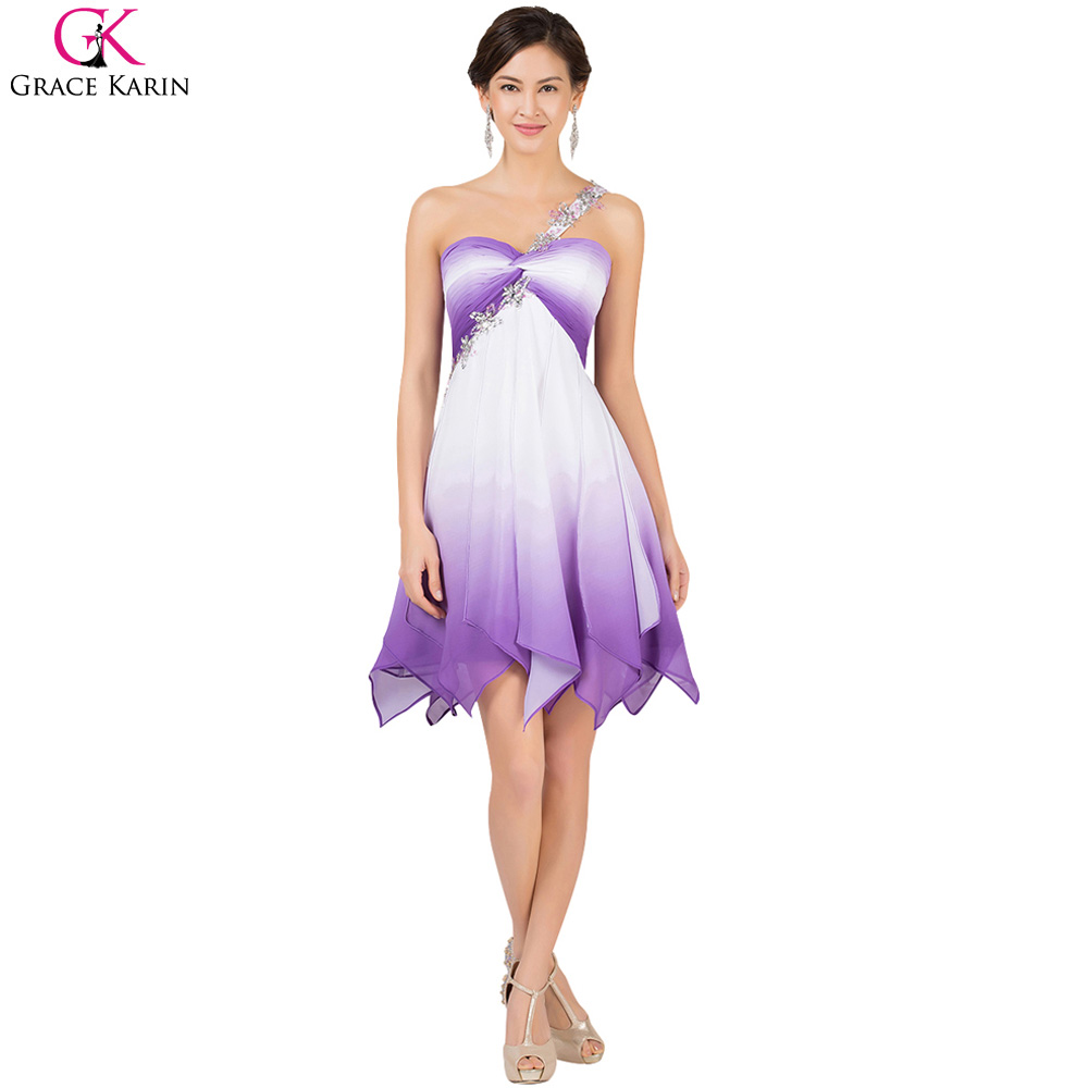 Purple Short Length Prom Dresses