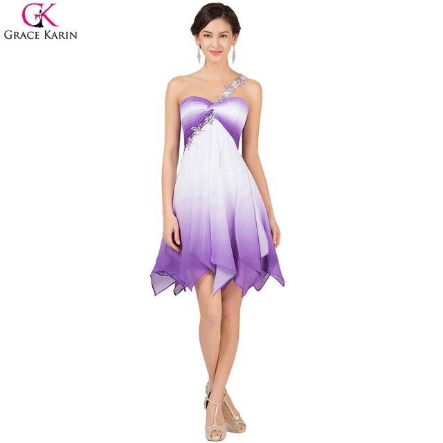 Grace karin cocktailkleider lila ombre robe de cocktailkleider ...