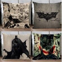 #1048 justicia Avengers Batman almohada de algodón & line funda de almohada por los cojines del sofá almohada sin relleno sin relleno para chicos ornamento