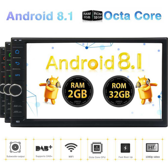 GPS Android navigation car pc stereo touch screen 2 DIN Cassette recorder headunits player WiFi/4G/3G Bluetooth no cd DVD player