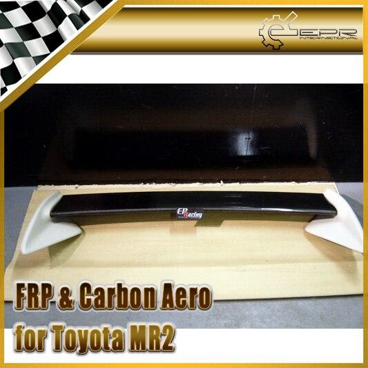Style de voiture pour Toyota MR2 SW20 Rev 5 TRD Style lame de becquet arrière en Fiber de carbone et Base en prf
