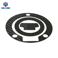 waase Real Carbon Fiber Tank Gas Cap Fuel Filler Pad Cover For Yamaha MT 10 FZ 10 MT10 FZ10 YZF R1 R1M R1S 2015 2016 2017 2018