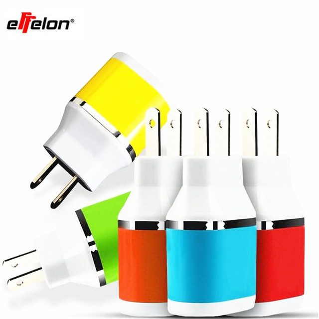 effelon 2 ports EU AC Travel USB Wall Charger for iPhone for Samsung Galaxy for HTC Cell Phones Adapter