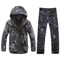 Nowa Armia Piesze Wycieczki Kryptek Czarny Skóra Rekina TAD Taktyczna 4.0 Kurtka + Spodnie Jednolite Mężczyźni Wodoodporny Płaszcz Ustawia Odkryty Polowanie odzież