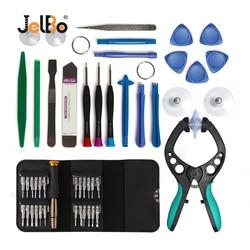 Jelbo chave de fenda ferramenta reparo conjunto tela lcd abertura alicate ventosa ferramenta reparo do telefone móvel para iphone ipad