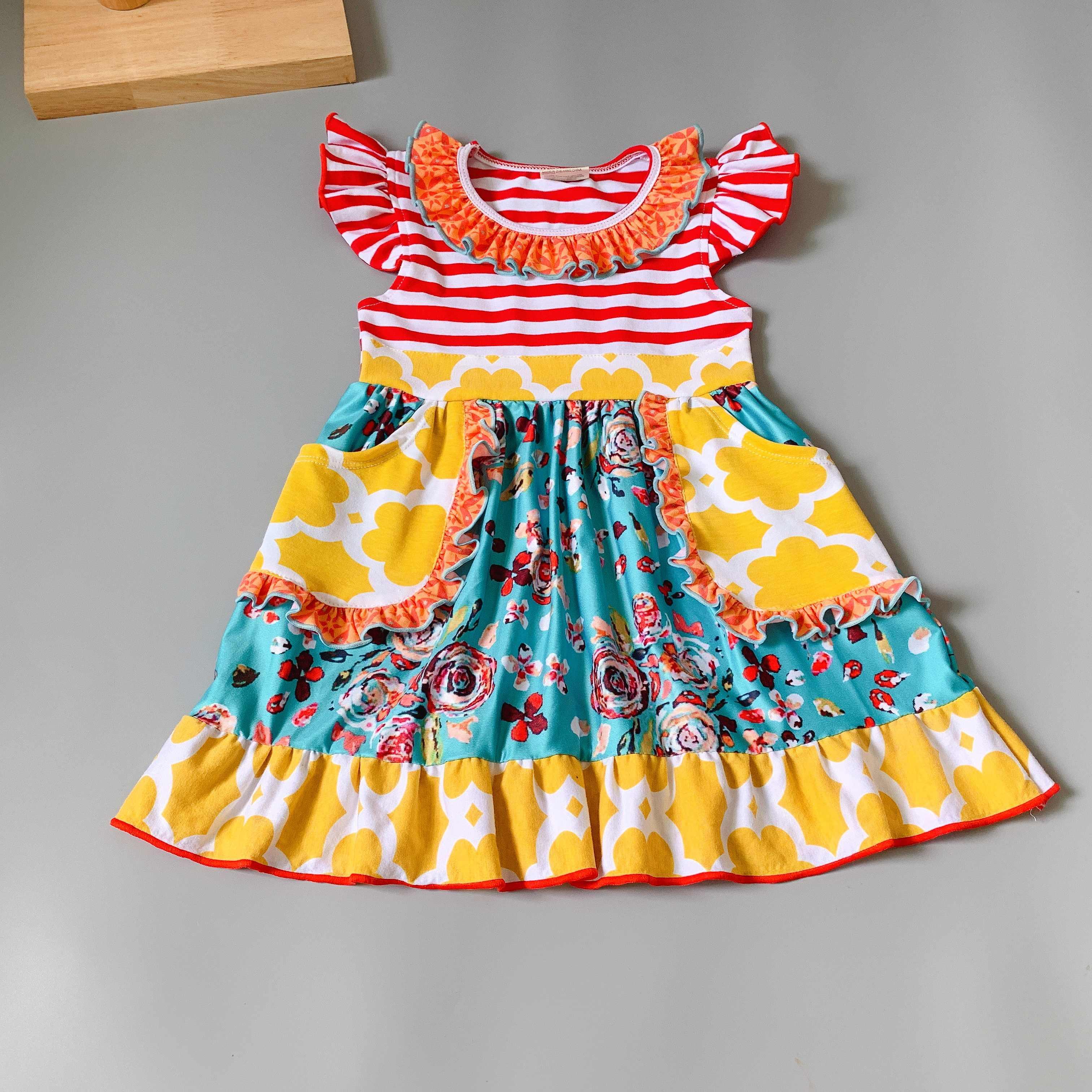 Летняя одежда с детей разноцветные сапоги для дождя с принтом Платье для маленьких девочек для вечерние Настоящее платье с коровьим принтом