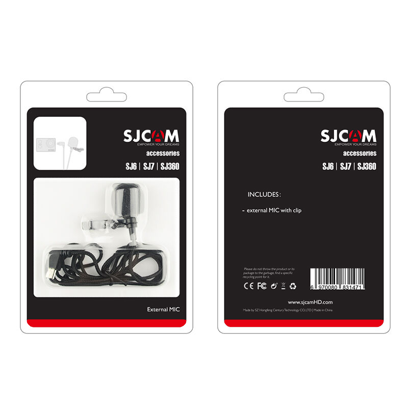 Original SJCAM Accessories SJ6 external microphone tone wheat External MIC for SJCAM SJ6 Legend SJ7 Star