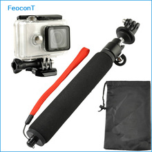 FeoconT Sports Accessories Kit Waterproof Case + Selfie Pole Mount for Xiaomi Yi Sports Cam Action Camera