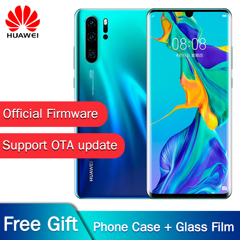 Original New Official Huawei P30 Pro Mobile phone Kirin 980 2.6GHz Android 9.1 6.47'' OLED 2340X1080P IP68 NFC 4 Cameras 40MP