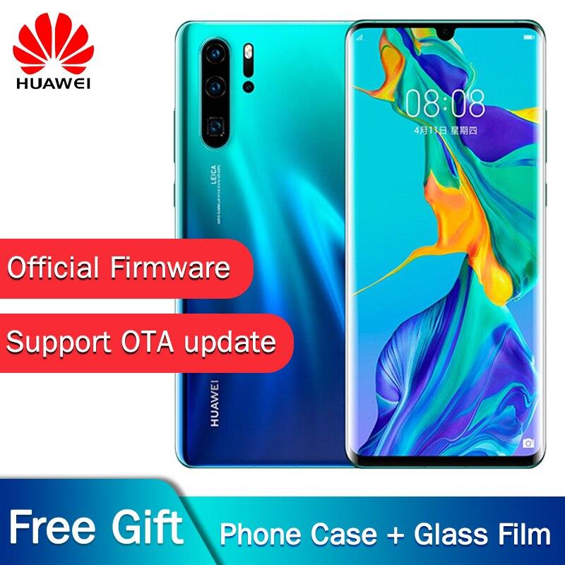 Original nouveau téléphone portable officiel Huawei P30 Pro Kirin 980 2.6 GHz Android 9.1 6.47 ''OLED 2340X1080 P IP68 NFC 4 caméras 40MP