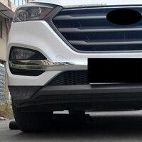 Für Hyundai Tucson zubehör 2015 2016 2017 2018 ABS Chrom Front stoßstange ecke schutz dekoration streifen auto styling 2 stücke-in Chrom-Styling aus Kraftfahrzeuge und Motorräder bei
