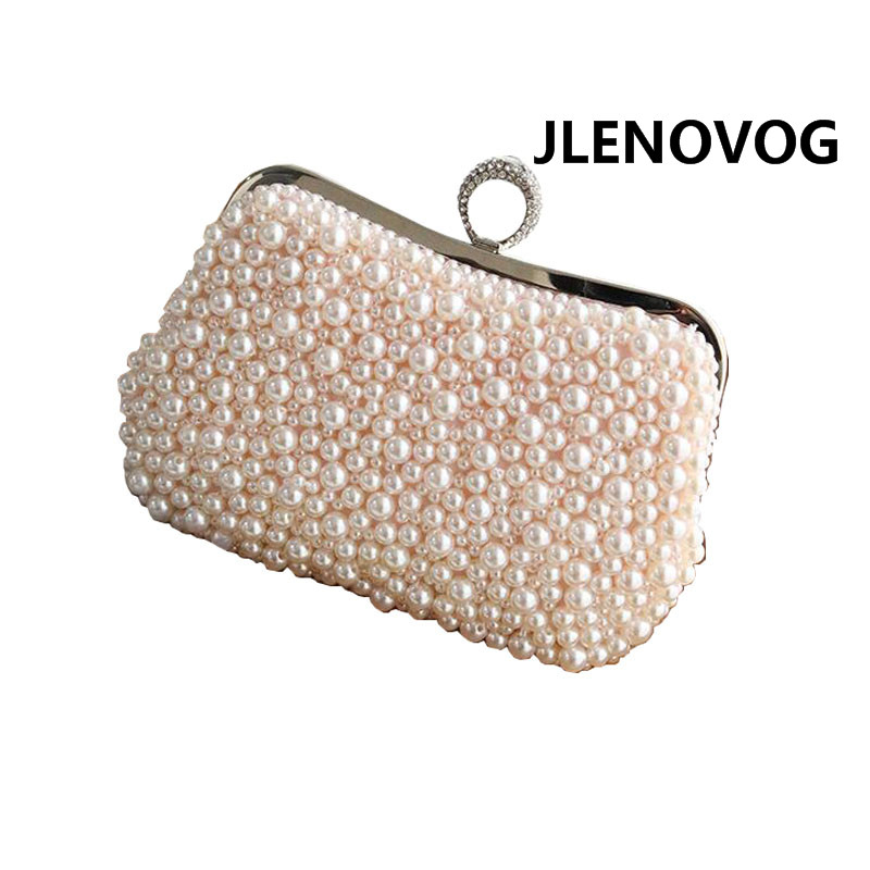 Une épaule diagonale portable poignée souple voyage en plein air plage printemps nouvelle perle unique sac à bandoulière chaîne