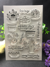 The cactus Transparent Clear Silicone Stamp/Seal for DIY scrapbooking/photo album Decorative clear stamp sheets(China)