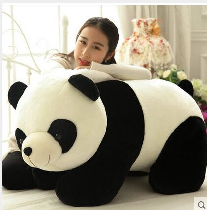 huge lovely plush panda toy big black&white panda doll gift about 90cm the huge lovely hippo toy plush doll cartoon hippo doll gift toy about 160cm pink