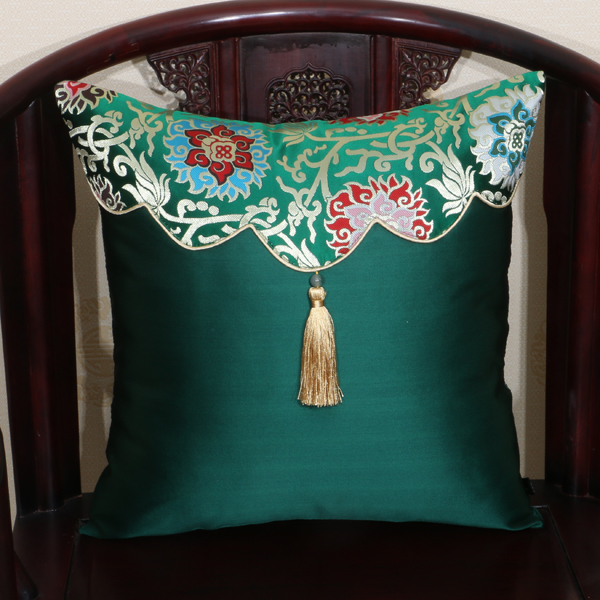 Luxury Patchwork Silk Chair Sofa Cover for Cushion Pillow Christmas Case Vintage High End Office Home Decor Chinese Cushion Cove in Cushion Cover from Home Garden
