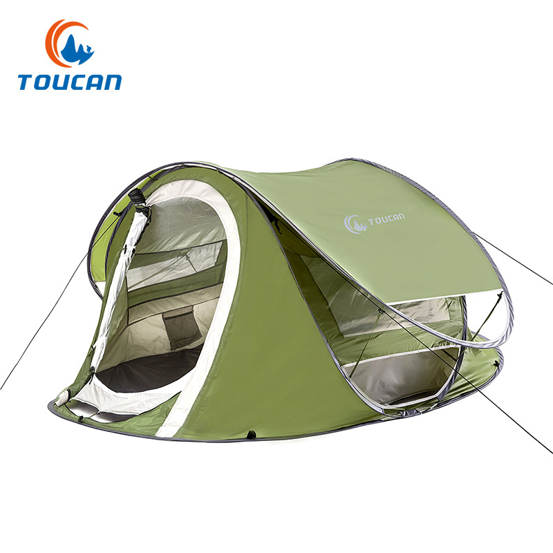 New Outdoor automatic tents speed open lazy tent Double waterproof portable pop up camping tent outdoor camping hiking automatic camping tent 4person double layer family tent sun shelter gazebo beach tent awning tourist tent
