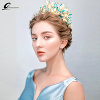 Butterfly Bridal Crowns Blue Crystal Wedding Hairbands Party Hair Jewelry Wedding Tiaras And Crowns Bridal Headband