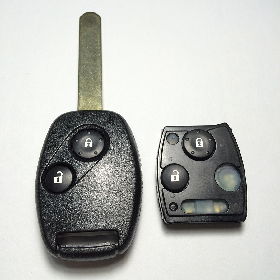 New 2 Button Remote Key For Honda CRV Accord 433MHZ With ID46 Electric Chip Fit For 2008 2012 Models High Quality Free Shipping