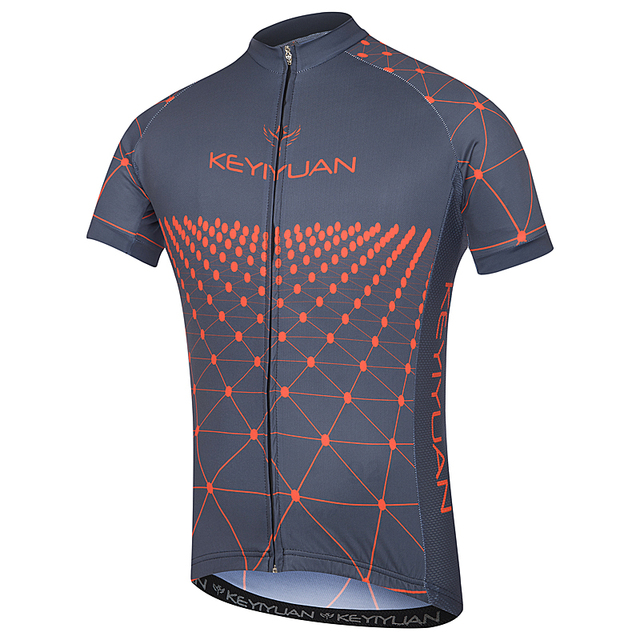 KEYIYUAN mountain bike riding jacket men s team jersey man breathable short- sleeved shirt team T clothes in summer 9c279535f